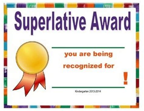 kindergarten superlative general