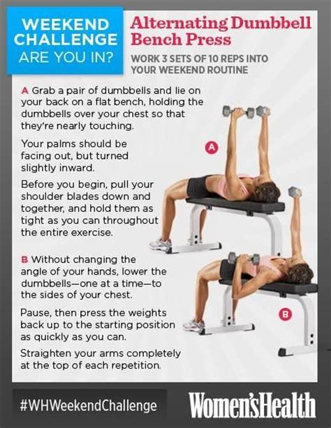 dumbbell alternating bench press alternating dumbbell bench press workouts pinterest
