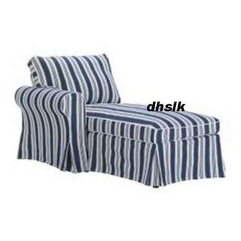Blue And White Striped Slipcovers ikea ektorp left chaise longue slipcover cover toftaholm blue white stripes