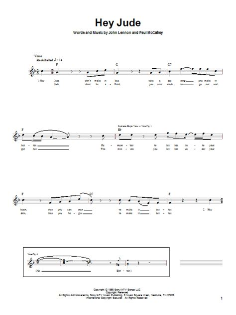 ukulele tutorial hey jude hey jude bass guitar tab by the beatles bass guitar tab