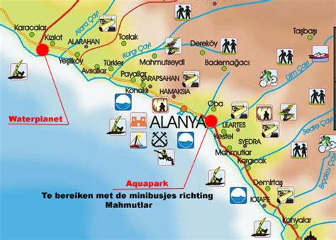 antalya map tourist attractions alanya antalya city