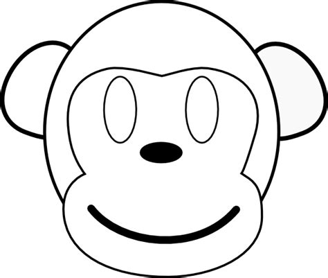 monkey face outline clipart best