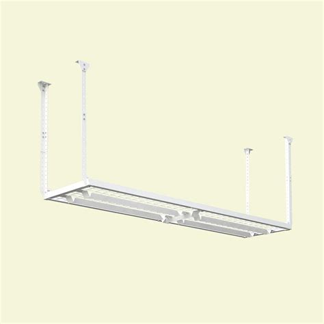Ceiling Mounted Storage Shelf by Hyloft 96 In W X 24 In D Adjustable Height Garage