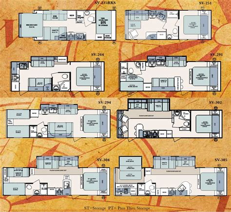 surveyor floor plans forest river surveyor travel trailer floorplans
