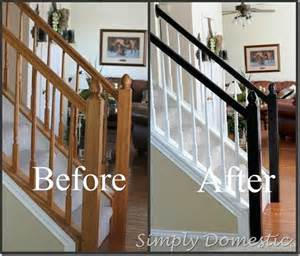 How To Paint A Stair Banister by Best 25 Painted Stair Railings Ideas On Stair
