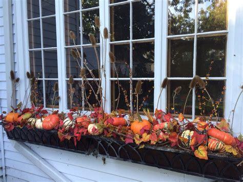 Fall Planter Box Ideas by Beautiful Fall Window Box Idea Coopersmithandson