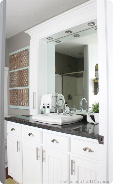 Bathroom Vanity Storage Tower Small Master Bathroom Remodel With Stylish Affordable Countertop Storage