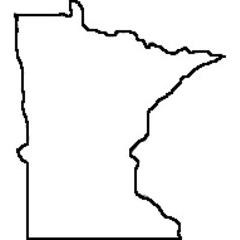 rubber st templates 6 state of minnesota outline map rubber st