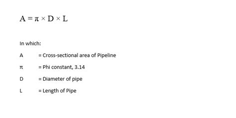 formula to calculate cross sectional area cathodic protection calculation for pipeline