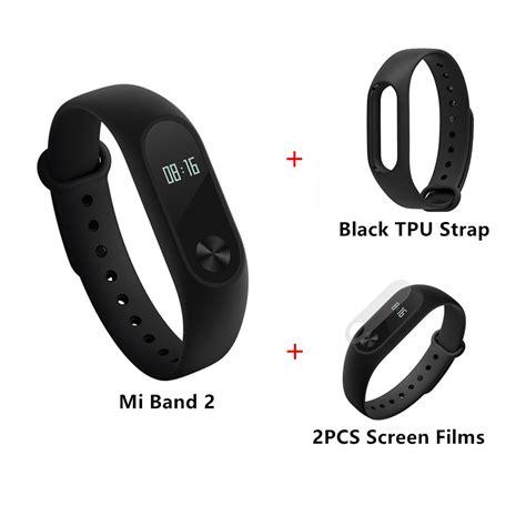 Xiaomi Mi Band Bracelet Black xiaomi mi band 2 smart bracelet black tpu 2pcs