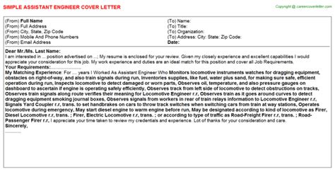 Assistant Recording Engineer Cover Letter by Advanced Support Assistant Cover Letters