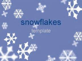 Snowflake Powerpoint Template by Snowflakes Template