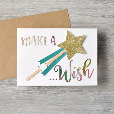 make a wish cards make a wish birthday card by mint nifty