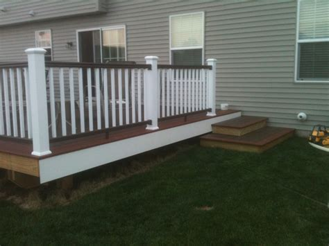 How To Install Pvc Decking by Pvc Decking Canyon Brown Fireside Timbertech Radiancerail