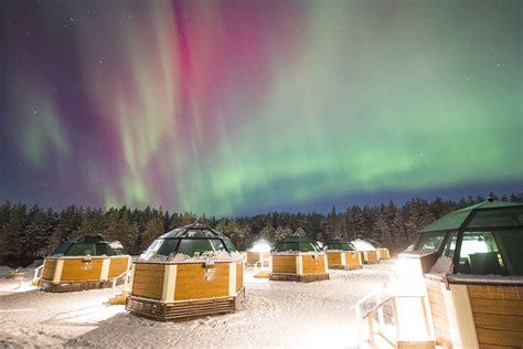 northern lights iceland igloo igloos auroras book lapland tours