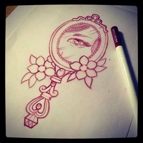mirror tattoo designs mirror with eye design drawing by mr curtis at