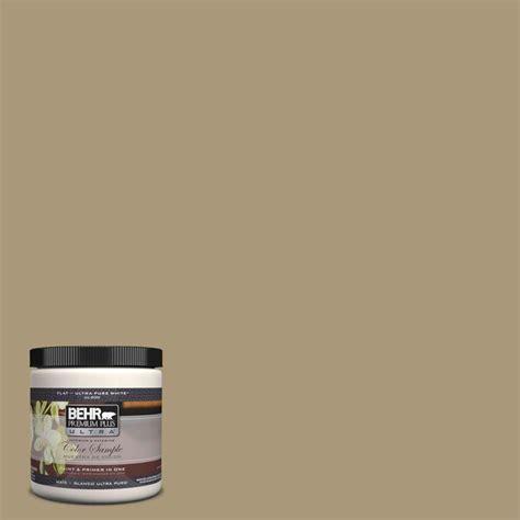 behr premium plus ultra 8 oz ul190 20 exploring khaki interior exterior paint sle ul190 20