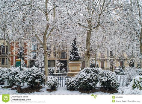 fotos invierno madrid hiver 224 madrid photo stock image 50748989