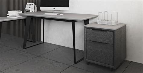 modern office desk urbano gray concrete modern office desk contemporary