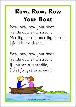row the boat chant row row row your boat song sheet sb10945 sparklebox