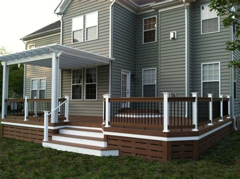 5 Ways To Go Skirting Around Fabulously by Deck Underpinning Ideas Deck Skirting Idea The