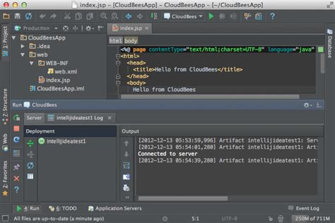 tutorial android intellij deploy web apps to cloudbees from intellij idea 12