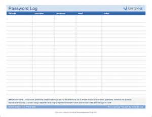 password template password log template
