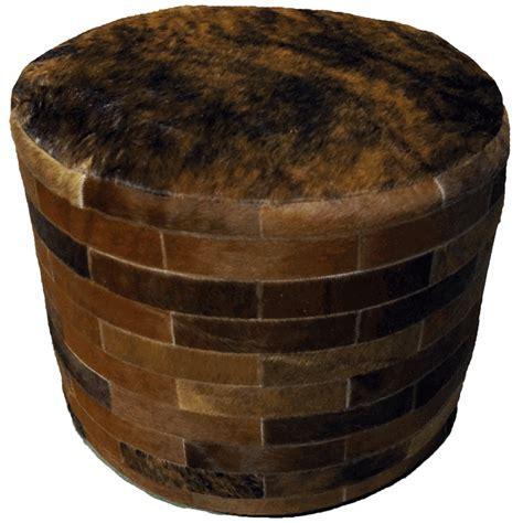cowhide round ottoman dark brown round cowhide ottoman 24 inch