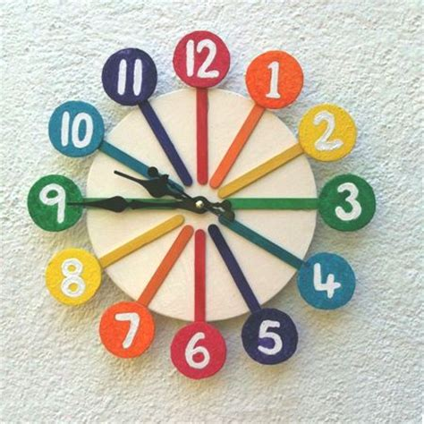 Home Decoration Craft Ideas by Best 25 Clock Craft Ideas On Pinterest Teaching Clock