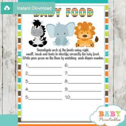 Free Printable Nautical Baby Shower Games - jungle theme baby shower games package d134 baby printables