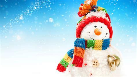 wallpaper snowman snowfall crochet hat scarf bells  celebrations christmas