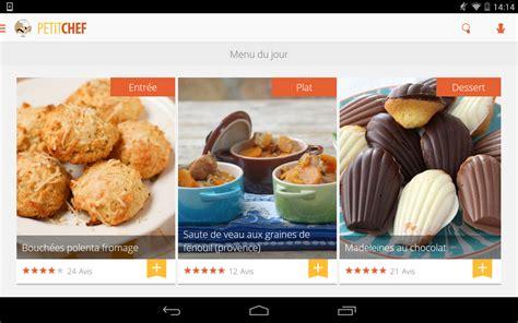 application recette de cuisine ptitchef recettes de cuisine applications android sur