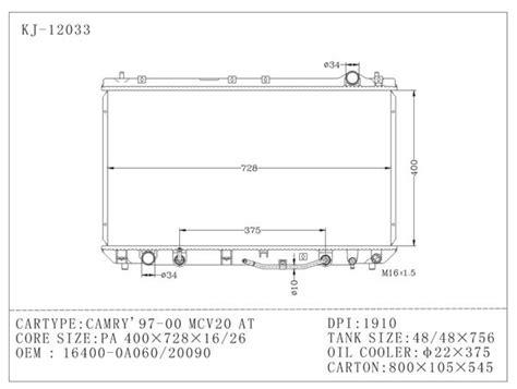 Tabung Radiator Innova Hilux Ori camry 1997 2000 toyota radiator untuk mcv 20 at oem 16400