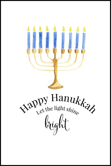 Printable Hanukkah Card | 10 diy hanukkah decorations tip junkie