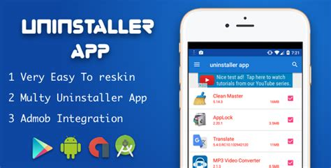 uninstaller for android apk uninstaller application for android 187 premium scripts plugins mobile
