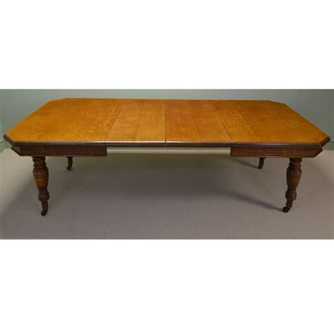 antique dining table large oak antique extending dining table