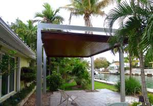 Aluminum Wood Patio Cover Free Standing Modern Pergola Outdoor Living Florida