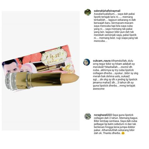Lipstick Collagen D Herbs Harga mybeautyshops mbs lipstick collagen treatment d herbs