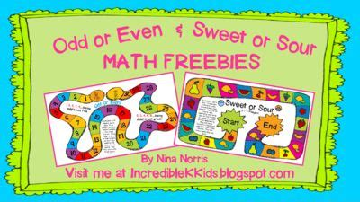 Sour Mat and even sweet and sour math freebies from