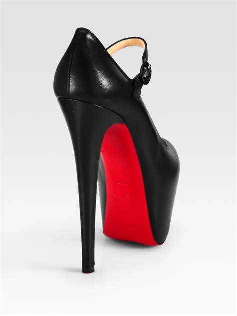 Christian Louboutin Platform Heels by Christian Louboutin Leather And Patent Leather