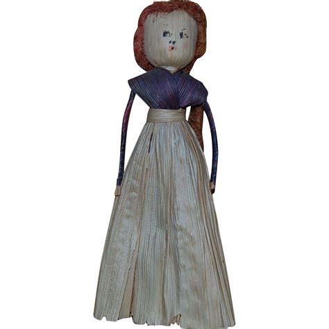 vintage corn husk doll vintage corn husk doll corn silk hair from