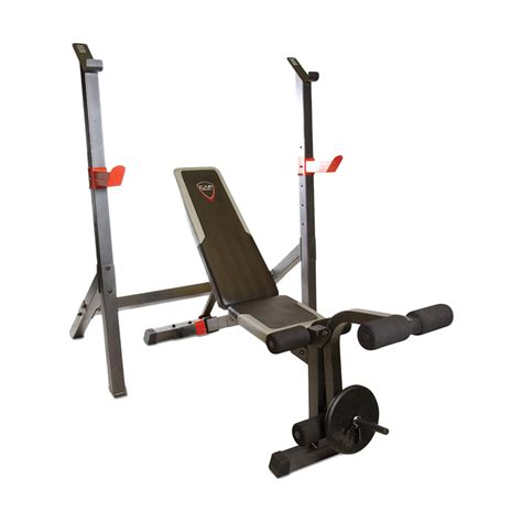 olympic bench with squat rack cap barbell olympic weight bench w squat rack fm 7105