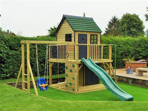 play house garden playhouses and climbing frames