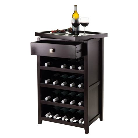 Espresso Bar Cabinet Winsome Wood Espresso Bar Cabinet 92725 The Home Depot