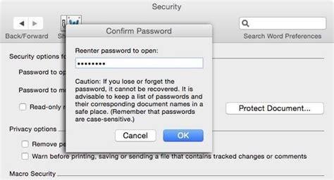 Unlock Word Document Locked For Editing Mac