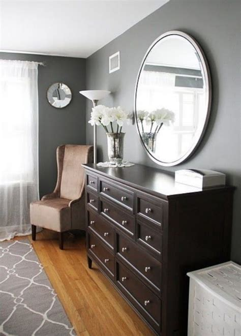 grey bedroom with dark furniture bedroom dresser decor