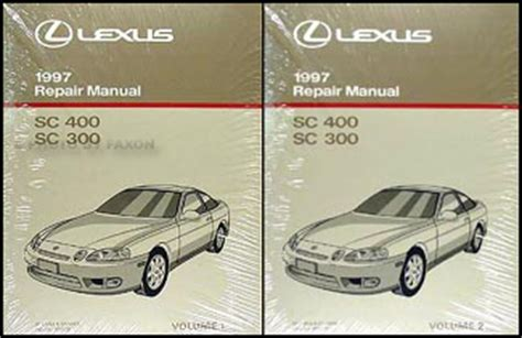 auto repair manual free download 1997 lexus ls parking system 1997 lexus sc 300 and sc 400 repair shop manual original 2 volume set