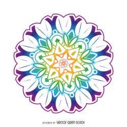 colorful mandala flower vector download
