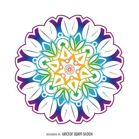 imagenes flor mandala flores de colores mandala vector gratis