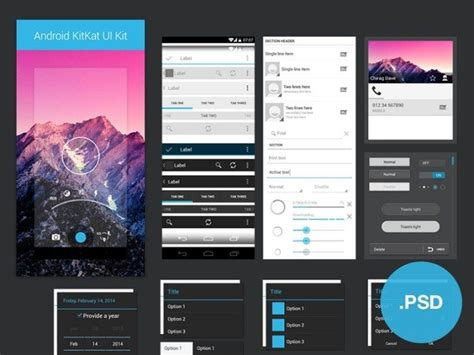 android ui 46 best free android ui kit psd web resources free